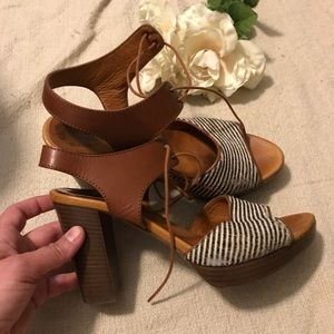 Madewell striped calf hair heel sandals
